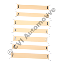 Front seat webbing kit 1800S/E '64-'71 (for 1 front seat bottom)