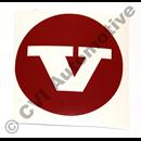 Dekal (röd) för navkapsel 670437 (KS)
