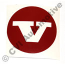 Sticker (red) for hub cap 670437 (KS)