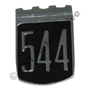 """544"" shield badge, 1965-'66"