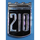 """210"" shield badge, 1965-'69"