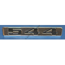 """544"" badge, PV bootlid, 65-66"