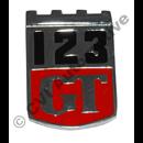 123 GT skärmemblem