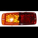 Taillamp lens, Duett red/amber