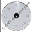 Glas för hastighetsmätare P1800  (MPH) (1961-1969)