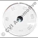 Glas för hastighetsmätare P1800  (Km/h) (1961-1969)