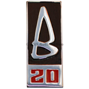 """B20"" grille badge, 1969-70"