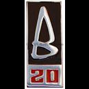 """Emblem """"B20"""" på grill, '69-'70"""