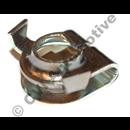Throttle shaft spring retainer