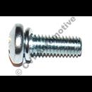 Screw vacuum chamber lid, Stromberg CD (genuine, incls lock washer  -  4/carb)