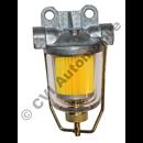 Bränslefilter glaslockstyp (med utbytbar pappersfilterinsats)
