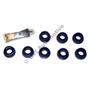 Cotton-reel bushing kit, front axle (Superpro PU) (4 bushes per kit)