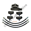 Brake cylinder set, 544 B16/Duett '58-'60 (5 cyls/3 hoses) 544 B16 ch# 207865 to 1960