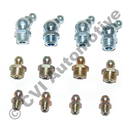 Grease nipple set, front axle PV/Duett