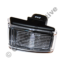 Side marker lamp clear (black base)