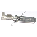 Tab connector, double (male) 0.8 mm thickness (6.35 mm wide)