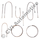 Brake pipe set, AZ B18 LHD (Girling) '66-'68 (for cars with brake pressure valve)