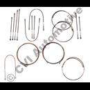 Brake pipe set, AZ B20 dual-circuit (LHD) '69-'70 (Copper-Nickel)
