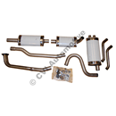 Exhaust system, 1800E/ES  (stainless)  Fitting kit incl