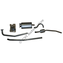 Exhaust system, Amazon sedan 61-66
