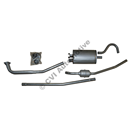 Exhaust system, Amazon sedan 67-70