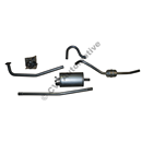 Exhaust system, Amazon wagon 62-66