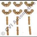 Pinwing skruvsats impellerlock (för kullagrad pump)