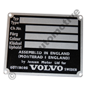 Chassis plate P1800 -1963