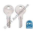 Key blank, PV/Duett locks