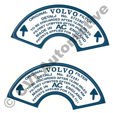 Stickers for air filters 672280/81 (1 pair)