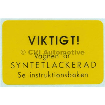 Decal PV 1956 only