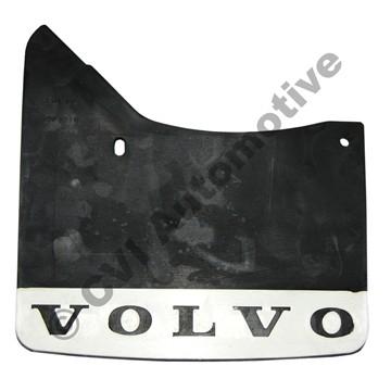 Mudflap rear, 140/164/200 '67-'85 LH (Volvo genuine with white logo)