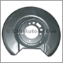 Brake backplate rear 164 75/240 LH