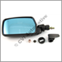 Door mirror 200 LHD 80-85 manual LH(wide-angled glass)