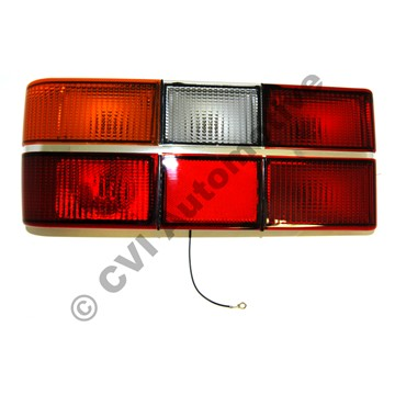 Taillamp 240 79-89 chrome LH (with fog light: not for USA)