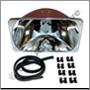 Headlamp reflector, 240 1981- LH/RH (NB! for RH traffic)  R