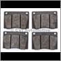 Brake pad set, Amazon/P1800 (B18)( for 2 front wheels)