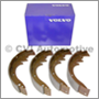 Brake shoe set rear, 544/210 (+121 to 1964) (+122S/1800S USA/CAN 1968)