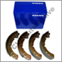 Brake shoe set, Amazon/1800 rear (Girling) (w. discs front)  Az -'70, 1800 -'69