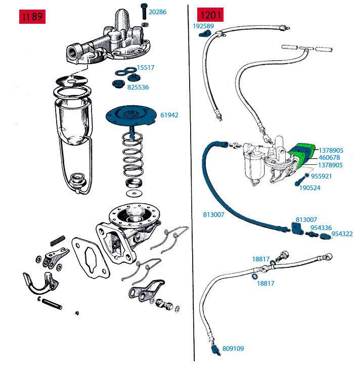 1.) Bränslepump - filter
