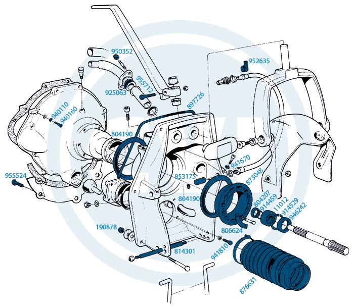 1.) Svänghjulskåpa AQ110