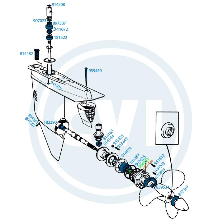4.) Lower unit