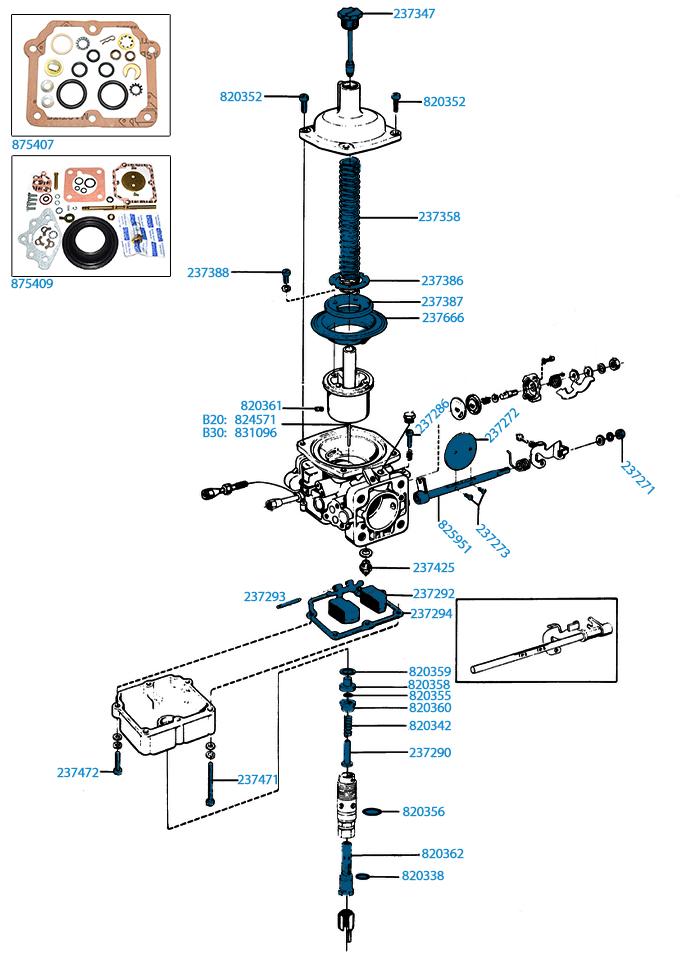 2a.) Förgasare AQ/BB165A