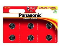 Panasonic Cr2032 3V Litium 6-Pack