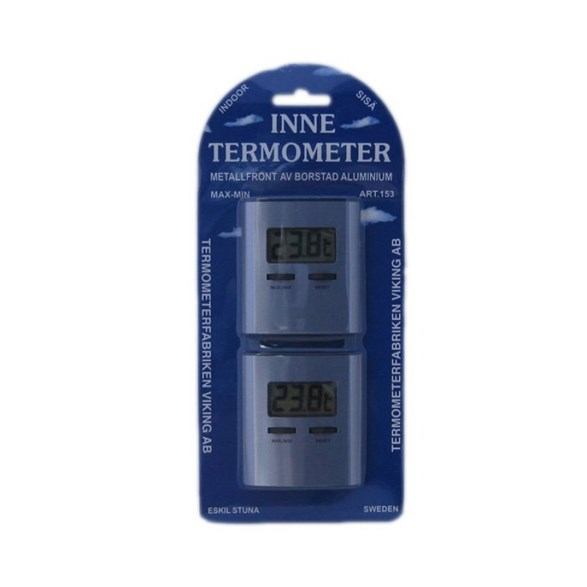 Termometer Inne Digital 2-Pack Alu 153