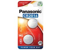Panasonic Cr2016 3V  Lithium  2-Pack Knappcellsbatteri *