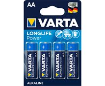 Varta 1,5V Aa/Lr6  4-Pack Alkaline Longlife Power  *