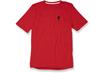 DRIRELEASE TEE S-LOGO RED HTHR/BLK S