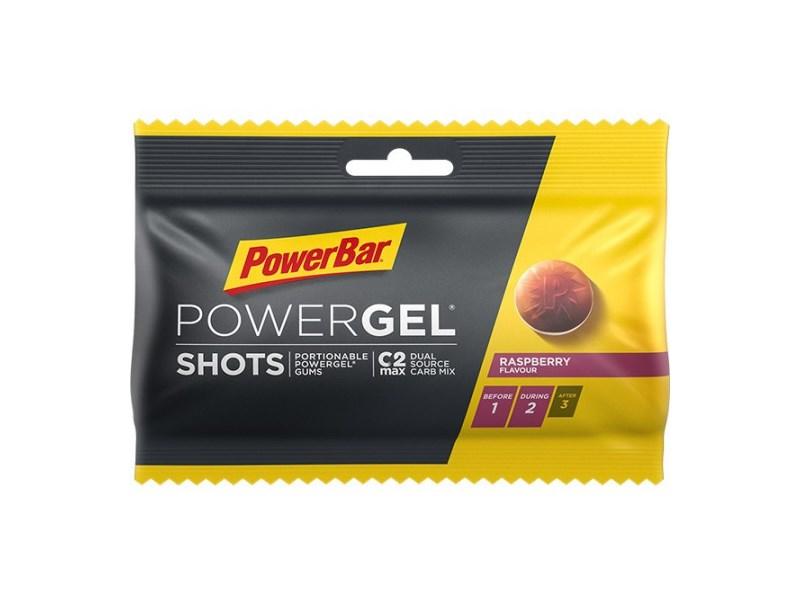 Powerbar PowerGel shots PowerBar 75mg Rasberry vingummi