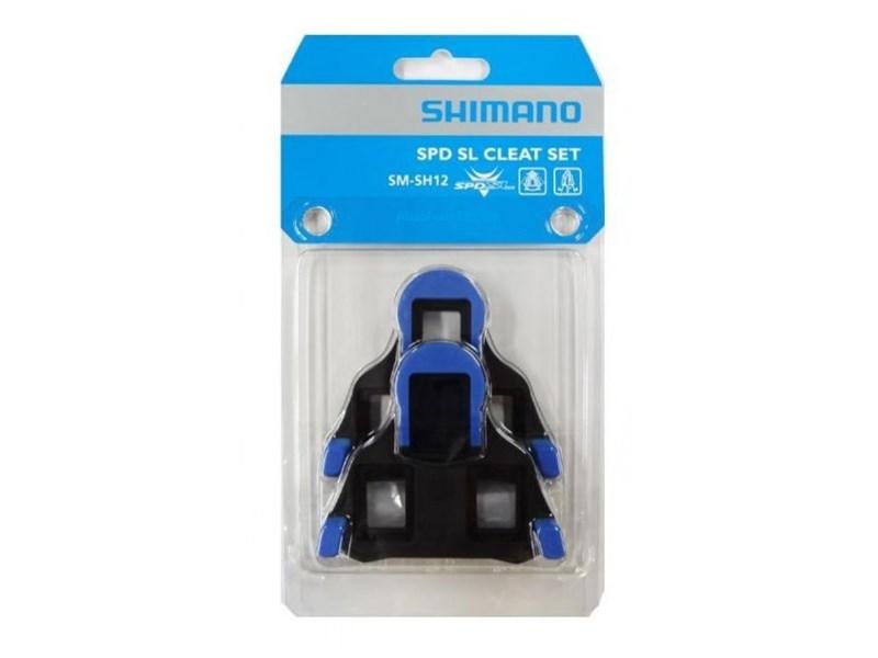 Shimano Pedalkloss SM-SH12, blå Halv rörlighet, 2 grader float